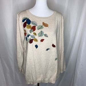 Talbots Plus Size Fall Leaves Sweater